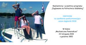 Zaproszenie na spotkanie żeglarskie 2018